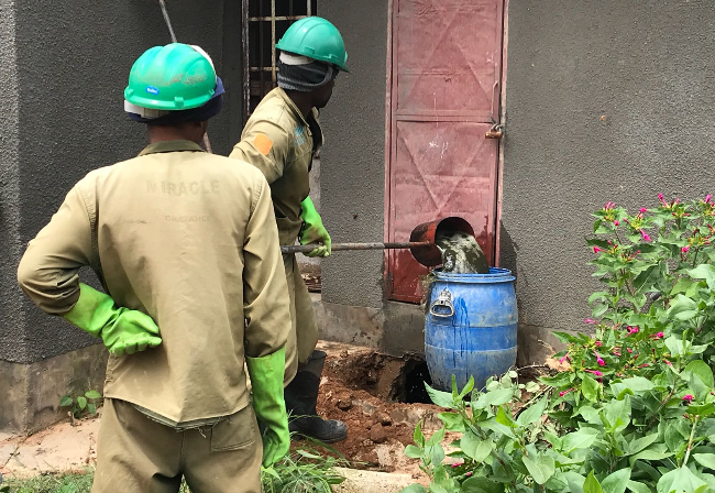 Pit-emptying practices in Lusaka