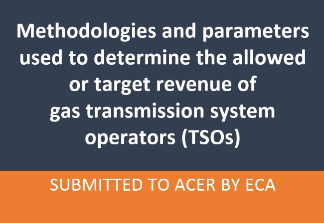 ACER publishes ECA report on EU revenue-setting approaches for gas transmission
