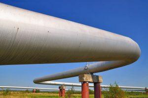Gas pipeline, blue sky