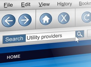 Utility providers in search engine window