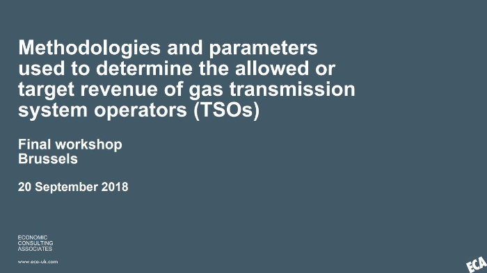 ECA study on EU revenue-setting approaches for gas transmission