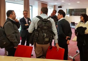 ECA's Nick Haralambopoulos , taking questions from small group around him at the ERRA gas transmission workshop.