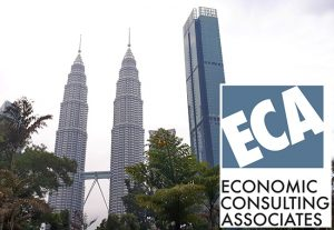 ECA in Malaysia as illustrated by the Petronas Towers in the background, with the ECA logo in the foreground.