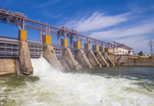Image of hydroelectric power plant, green energy