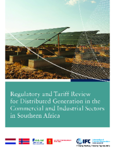cover of report showing solar panels in South Africa